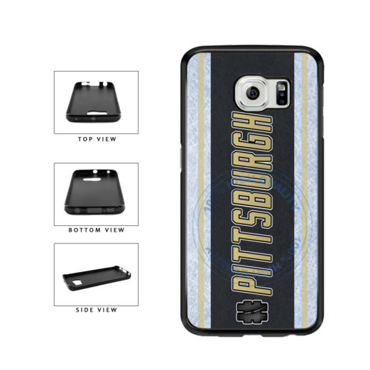 Hockey Team Hashtag Pittsburgh #Pittsburgh TPU Rubber SILICONE Phone Case Back Cover For Samsung Galaxy S6 G920 includes BleuReign(TM) Cloth and Warranty Label
