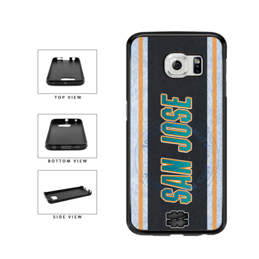 Hockey Team Hashtag San Jose #SanJose TPU Rubber SILICONE Phone Case Back Cover For Samsung Galaxy S6 G920 includes BleuReign(TM) Cloth and Warranty Label