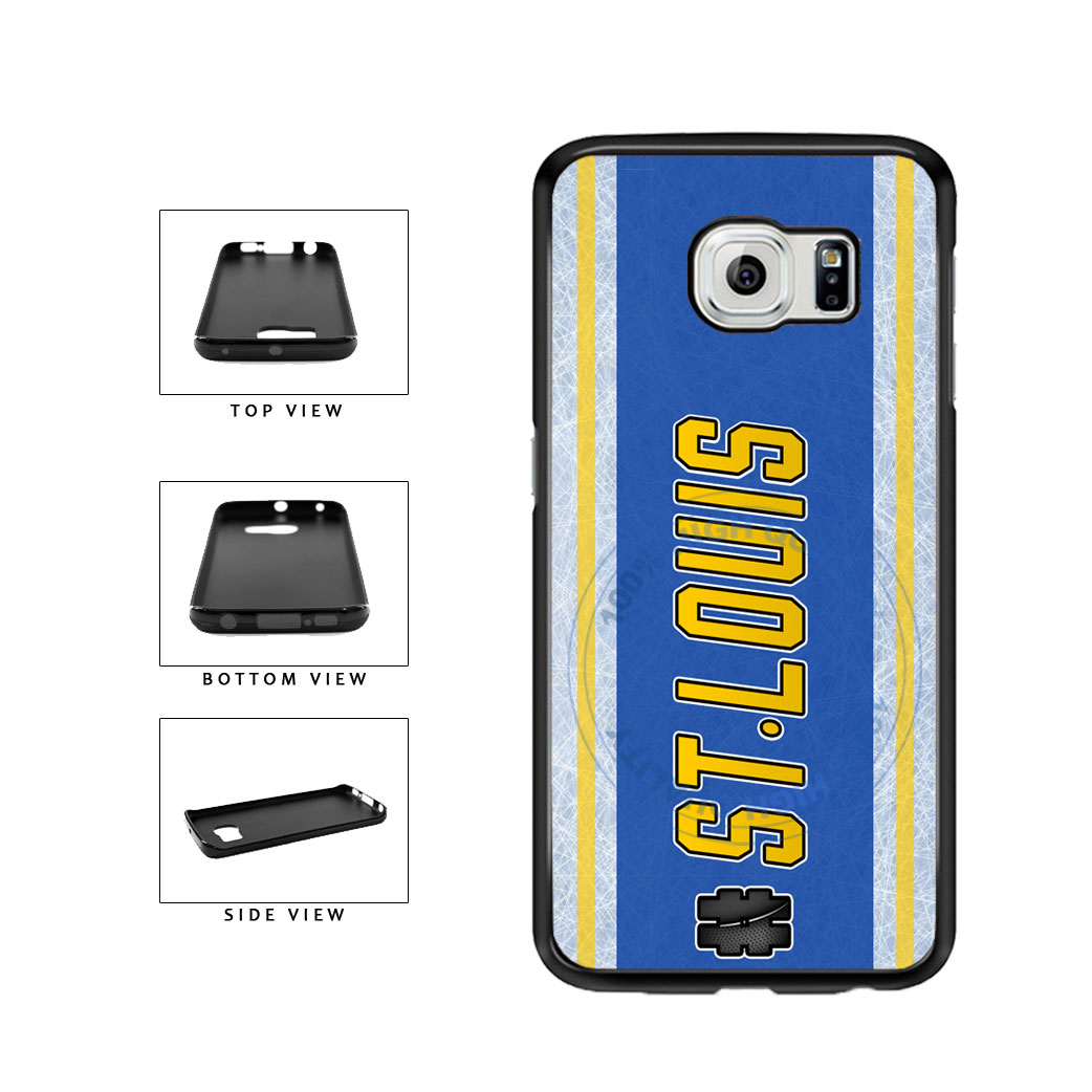 Hockey Team Hashtag St Louis #StLouis TPU Rubber SILICONE Phone Case Back Cover For Samsung Galaxy S6 G920 includes BleuReign(TM) Cloth and Warranty Label