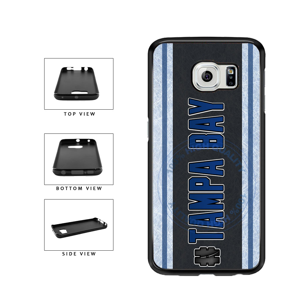 Hockey Team Hashtag Tampa Bay #TampaBay TPU Rubber SILICONE Phone Case Back Cover For Samsung Galaxy S6 G920 includes BleuReign(TM) Cloth and Warranty Label