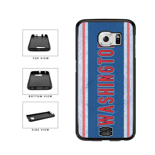 Hockey Team Hashtag Washington #Washington TPU Rubber SILICONE Phone Case Back Cover For Samsung Galaxy S6 G920 includes BleuReign(TM) Cloth and Warranty Label