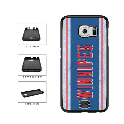 Hockey Team Hashtag Winnipeg #Winnipeg TPU Rubber SILICONE Phone Case Back Cover For Samsung Galaxy S6 G920 includes BleuReign(TM) Cloth and Warranty Label