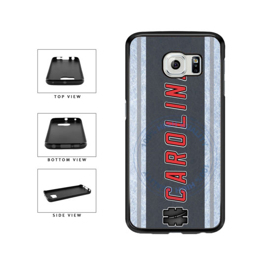 Hockey Team Hashtag Carolina #Carolina TPU Rubber SILICONE Phone Case Back Cover For Samsung Galaxy S6 G920 includes BleuReign(TM) Cloth and Warranty Label