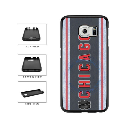 Hockey Team Hashtag Chicago #Chicago TPU Rubber SILICONE Phone Case Back Cover For Samsung Galaxy S6 G920 includes BleuReign(TM) Cloth and Warranty Label