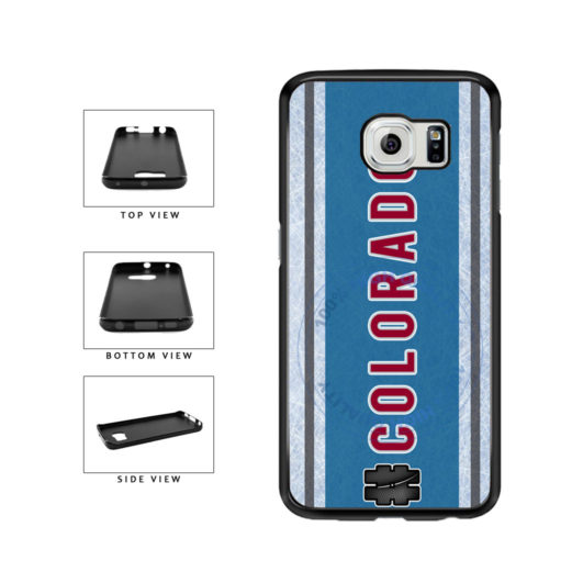 Hockey Team Hashtag Colorado #Colorado TPU Rubber SILICONE Phone Case Back Cover For Samsung Galaxy S6 G920 includes BleuReign(TM) Cloth and Warranty Label