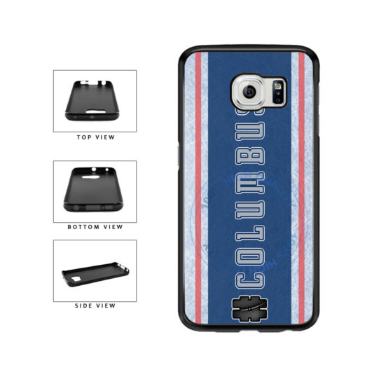 Hockey Team Hashtag Columbus #Columbus TPU Rubber SILICONE Phone Case Back Cover For Samsung Galaxy S6 G920 includes BleuReign(TM) Cloth and Warranty Label