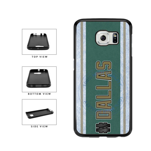 Hockey Team Hashtag Dallas #Dallas TPU Rubber SILICONE Phone Case Back Cover For Samsung Galaxy S6 G920 includes BleuReign(TM) Cloth and Warranty Label