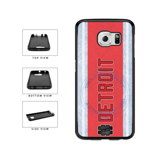 Hockey Team Hashtag Detroit #Detroit TPU Rubber SILICONE Phone Case Back Cover For Samsung Galaxy S6 G920 includes BleuReign(TM) Cloth and Warranty Label