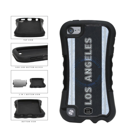 Hockey Team Hashtag Los Angeles #LosAngeles 2-Piece Dual Layer Phone Case Back Cover For Apple iPod Touch 5th Generation includes BleuReign(TM) Cloth and Warranty Label