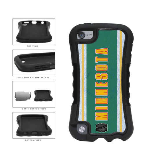 Hockey Team Hashtag Minnesota #Minnesota 2-Piece Dual Layer Phone Case Back Cover For Apple iPod Touch 5th Generation includes BleuReign(TM) Cloth and Warranty Label