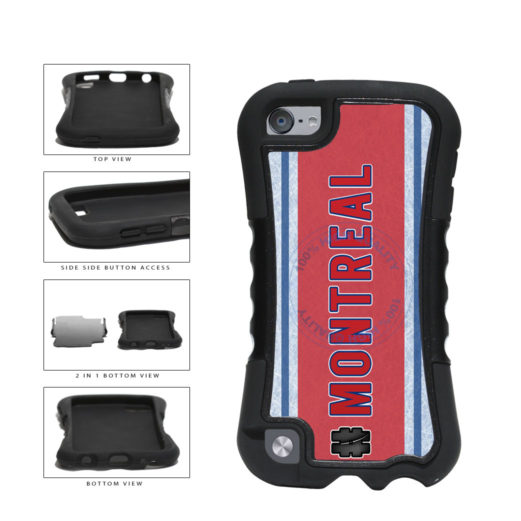 Hockey Team Hashtag Montreal #Montreal 2-Piece Dual Layer Phone Case Back Cover For Apple iPod Touch 5th Generation includes BleuReign(TM) Cloth and Warranty Label
