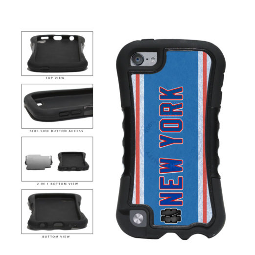 Hockey Team Hashtag New York Blue and Red #NewYork 2-Piece Dual Layer Phone Case Back Cover For Apple iPod Touch 5th Generation includes BleuReign(TM) Cloth and Warranty Label