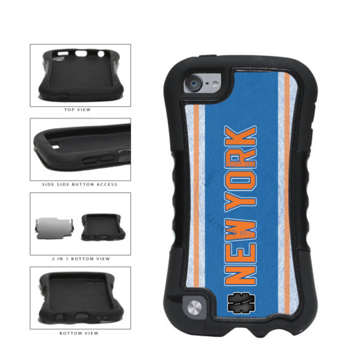 Hockey Team Hashtag New York Orange #NewYork 2-Piece Dual Layer Phone Case Back Cover For Apple iPod Touch 5th Generation includes BleuReign(TM) Cloth and Warranty Label