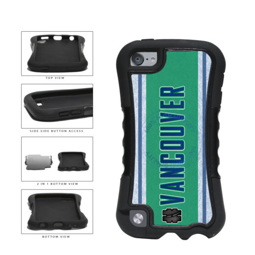 Hockey Team Hashtag Vancouver #Vancouver 2-Piece Dual Layer Phone Case Back Cover For Apple iPod Touch 5th Generation includes BleuReign(TM) Cloth and Warranty Label