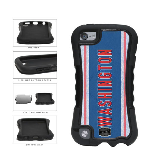 Hockey Team Hashtag Washington #Washington 2-Piece Dual Layer Phone Case Back Cover For Apple iPod Touch 5th Generation includes BleuReign(TM) Cloth and Warranty Label