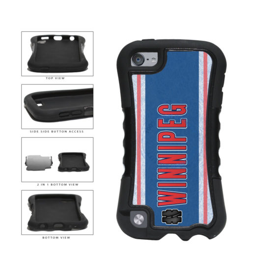 Hockey Team Hashtag Winnipeg #Winnipeg 2-Piece Dual Layer Phone Case Back Cover For Apple iPod Touch 5th Generation includes BleuReign(TM) Cloth and Warranty Label