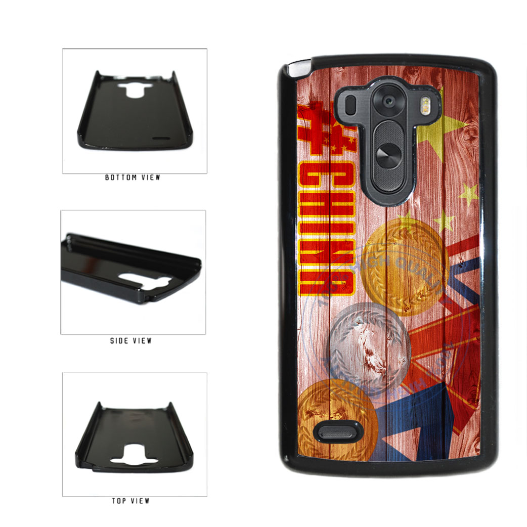 Sport Games Hashtag Team China #China Plastic Phone Case Back Cover For LG G3 D855 includes BleuReign(TM) Cloth and Warranty Label