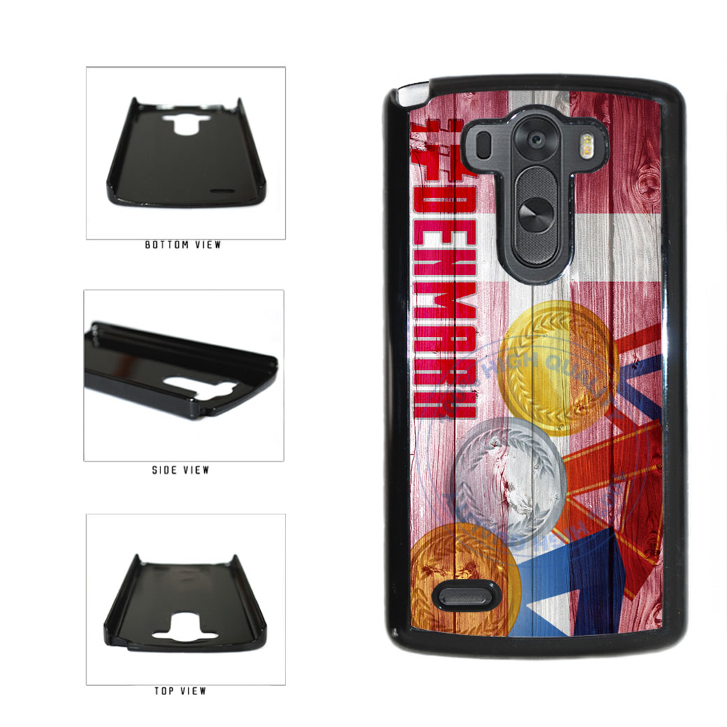 Sport Games Hashtag Team Denmark #Denmark Plastic Phone Case Back Cover For LG G3 D855 includes BleuReign(TM) Cloth and Warranty Label