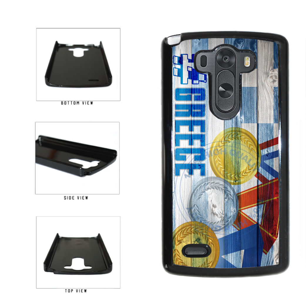 Sport Games Hashtag Team Greece #Greece Plastic Phone Case Back Cover For LG G3 D855 includes BleuReign(TM) Cloth and Warranty Label