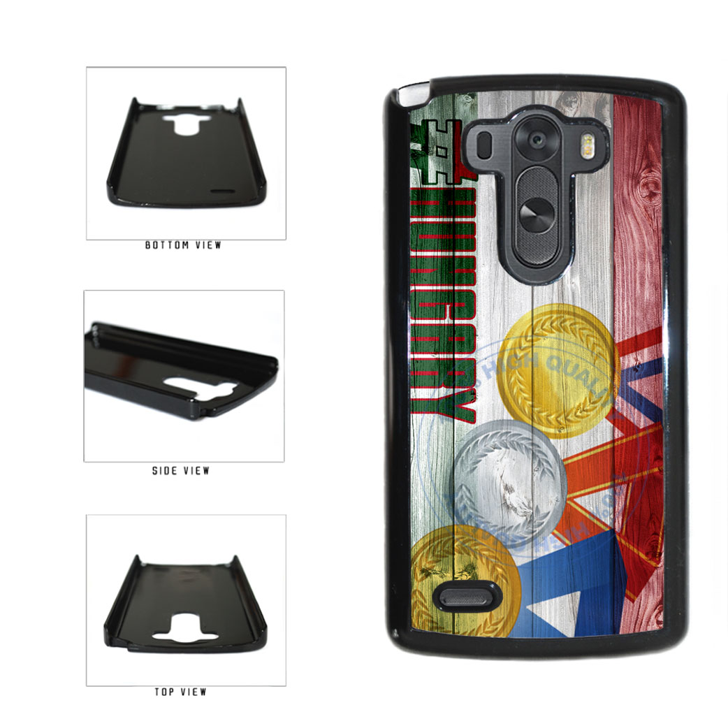 Sport Games Hashtag Team Hungary #Hungary Plastic Phone Case Back Cover For LG G3 D855 includes BleuReign(TM) Cloth and Warranty Label