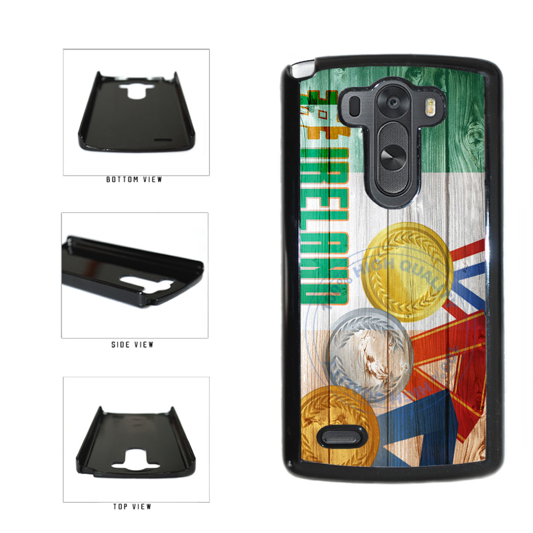 Sport Games Hashtag Team Ireland #Ireland Plastic Phone Case Back Cover For LG G3 D855 includes BleuReign(TM) Cloth and Warranty Label