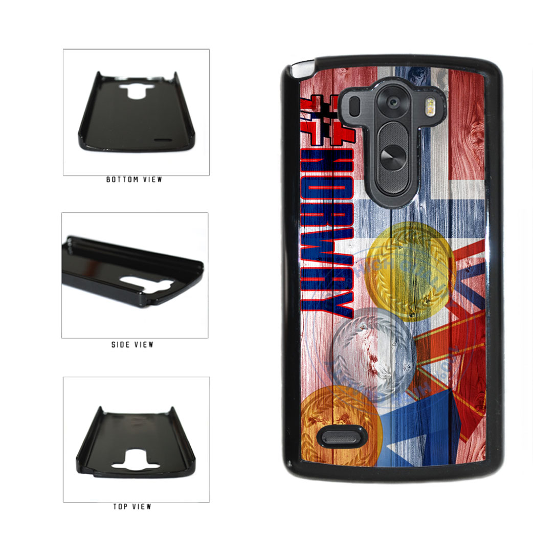 Sport Games Hashtag Team Norway #Norway Plastic Phone Case Back Cover For LG G3 D855 includes BleuReign(TM) Cloth and Warranty Label