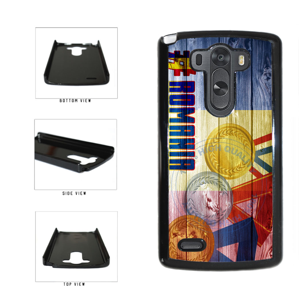 Sport Games Hashtag Team Romania #Romania Plastic Phone Case Back Cover For LG G3 D855 includes BleuReign(TM) Cloth and Warranty Label