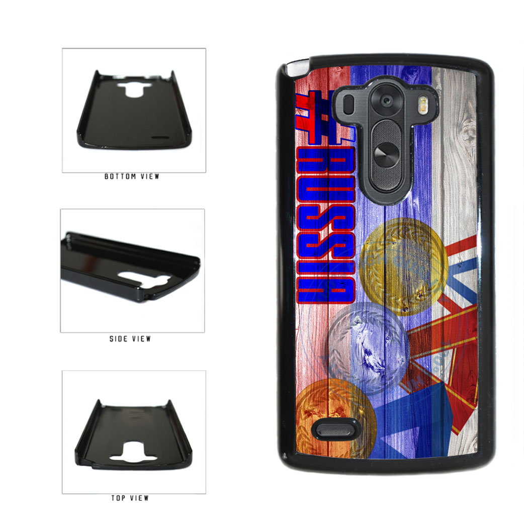 Sport Games Hashtag Team Russia #Russia Plastic Phone Case Back Cover For LG G3 D855 includes BleuReign(TM) Cloth and Warranty Label
