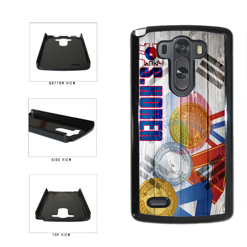 Sport Games Hashtag Team South Korea #SouthKorea Plastic Phone Case Back Cover For LG G3 D855 includes BleuReign(TM) Cloth and Warranty Label