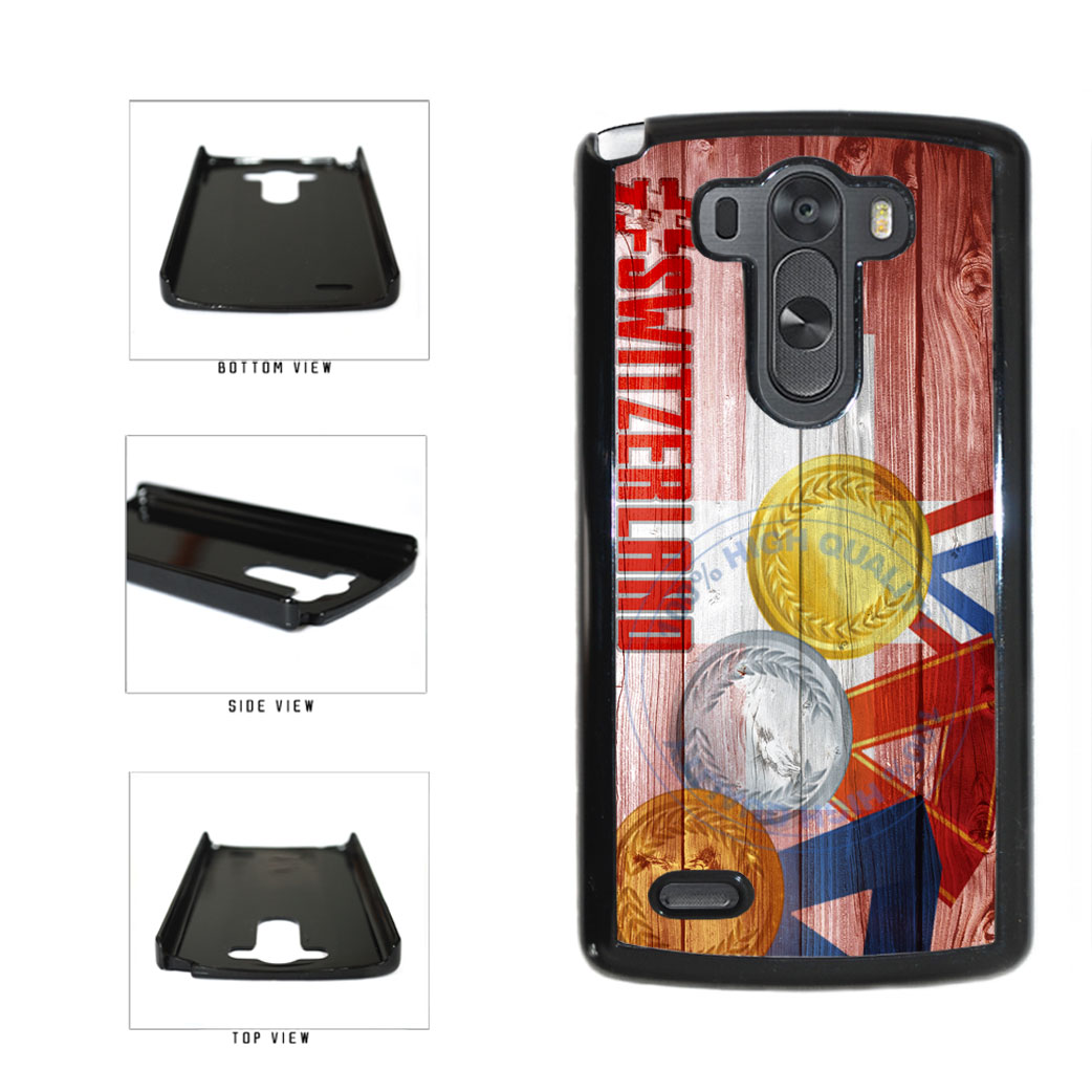 Sport Games Hashtag Team Switzerland #Switzerland Plastic Phone Case Back Cover For LG G3 D855 includes BleuReign(TM) Cloth and Warranty Label