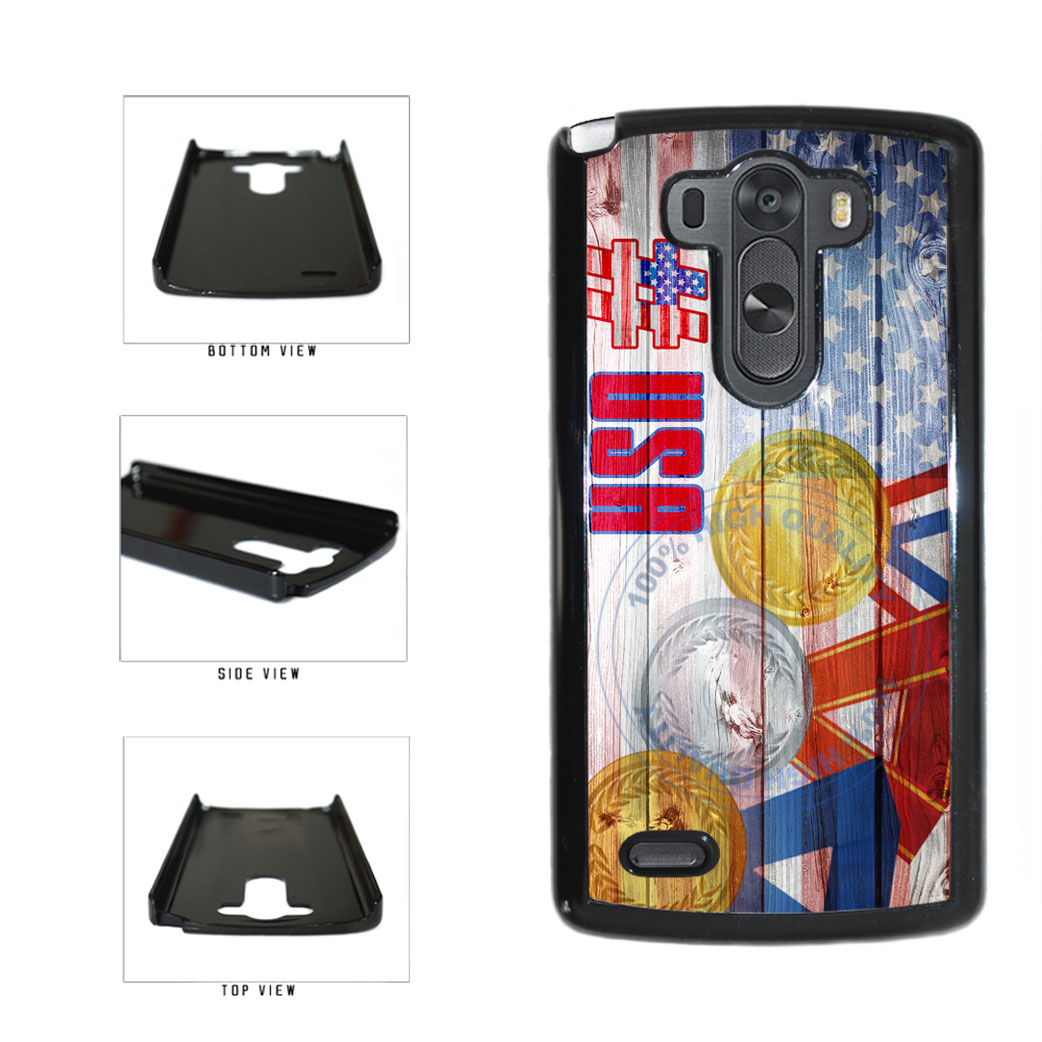 Sport Games Hashtag Team USA #USA Plastic Phone Case Back Cover For LG G3 D855 includes BleuReign(TM) Cloth and Warranty Label