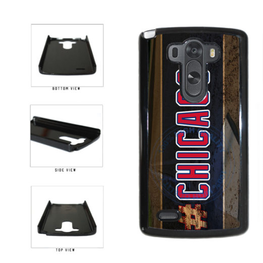 Hashtag Chicago #Chicago Blue and Red Baseball Team  Plastic Phone Case Back Cover For LG G3 D855 includes BleuReign(TM) Cloth and Warranty Label