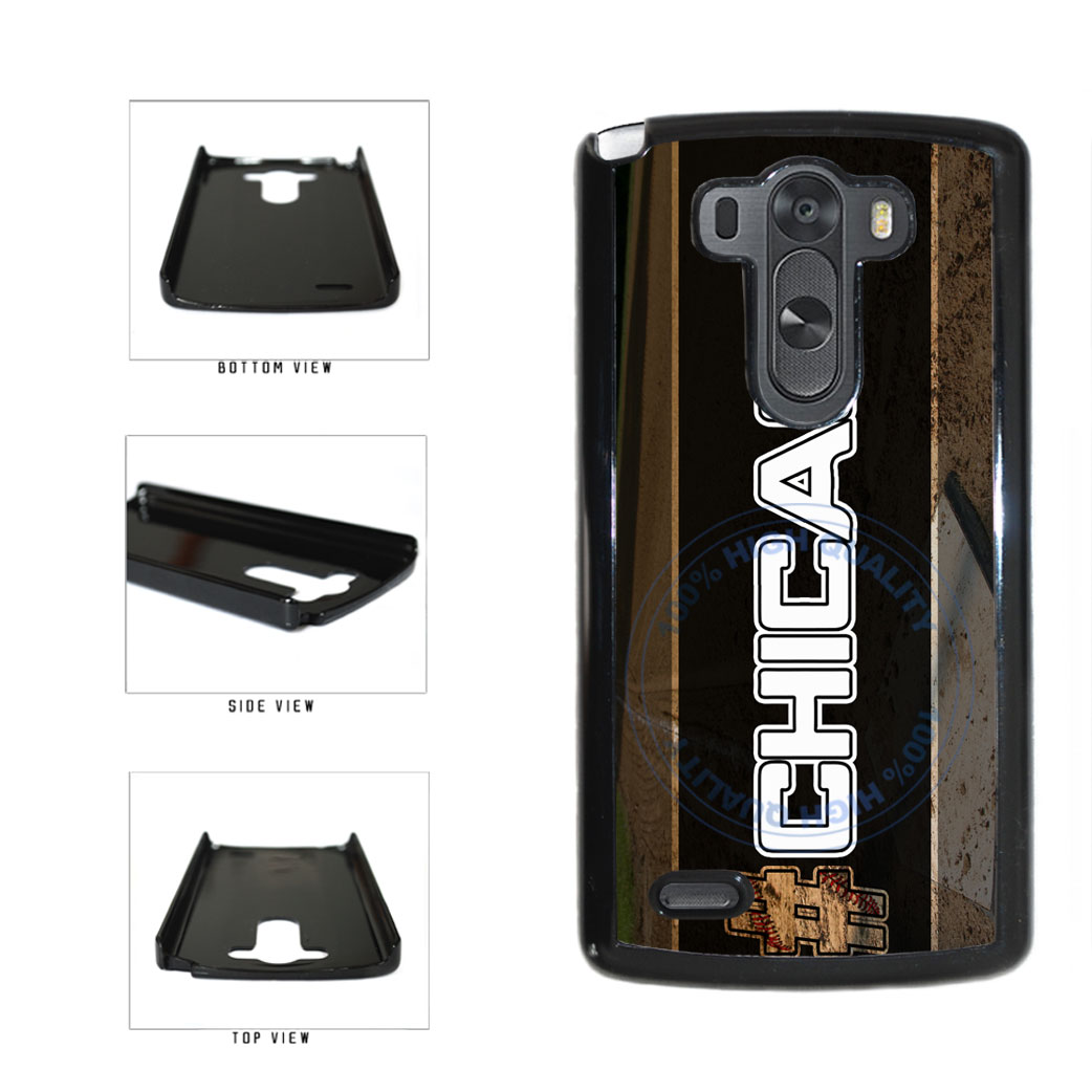 Hashtag Chicago #Chicago White Baseball Team  Plastic Phone Case Back Cover For LG G3 D855 includes BleuReign(TM) Cloth and Warranty Label
