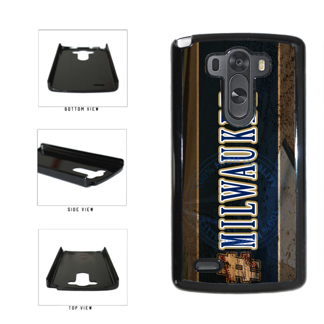 Hashtag Milwaukee #Milwaukee Baseball Team  Plastic Phone Case Back Cover For LG G3 D855 includes BleuReign(TM) Cloth and Warranty Label