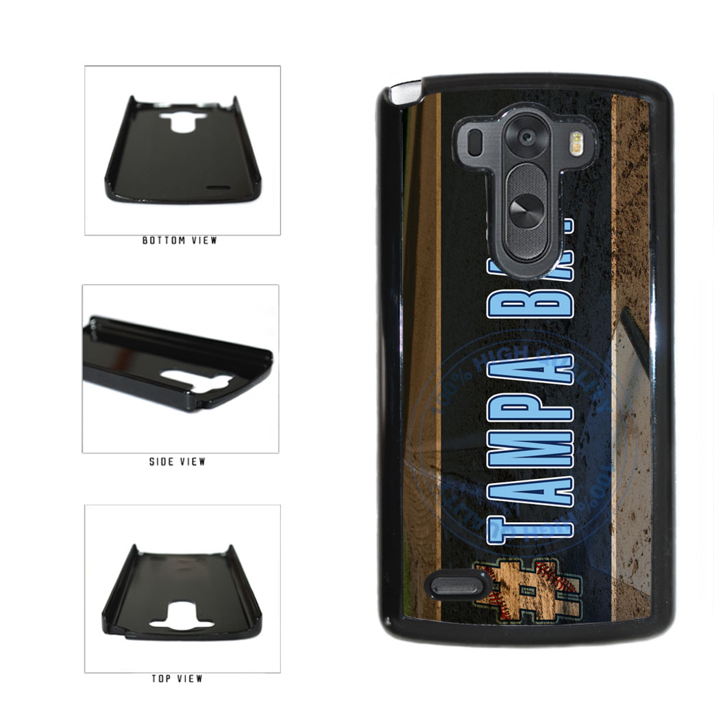 Hashtag Tampa Bay #TampaBay Baseball Team  Plastic Phone Case Back Cover For LG G3 D855 includes BleuReign(TM) Cloth and Warranty Label