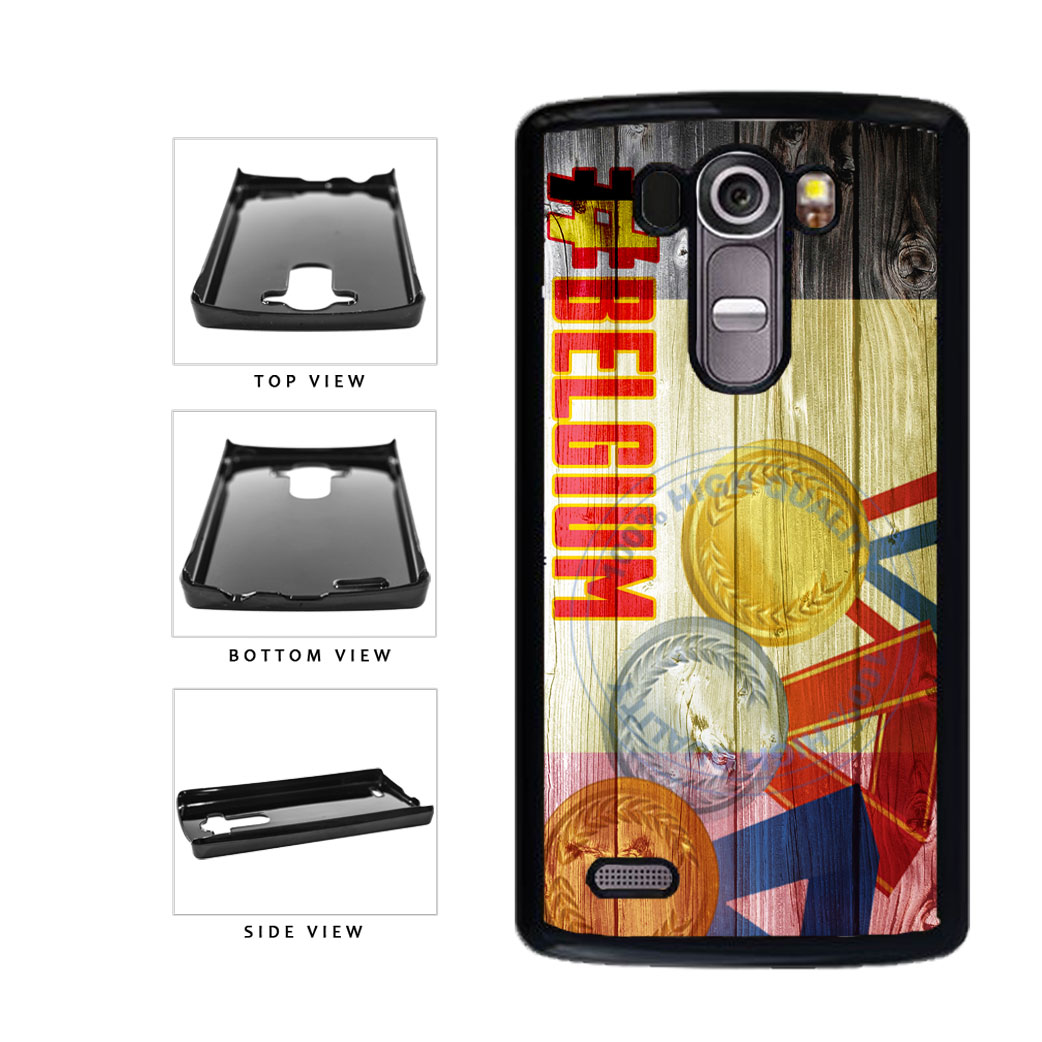 Sport Games Hashtag Team Belgium #Belgium Plastic Phone Case Back Cover For LG G4 H815 includes BleuReign(TM) Cloth and Warranty Label