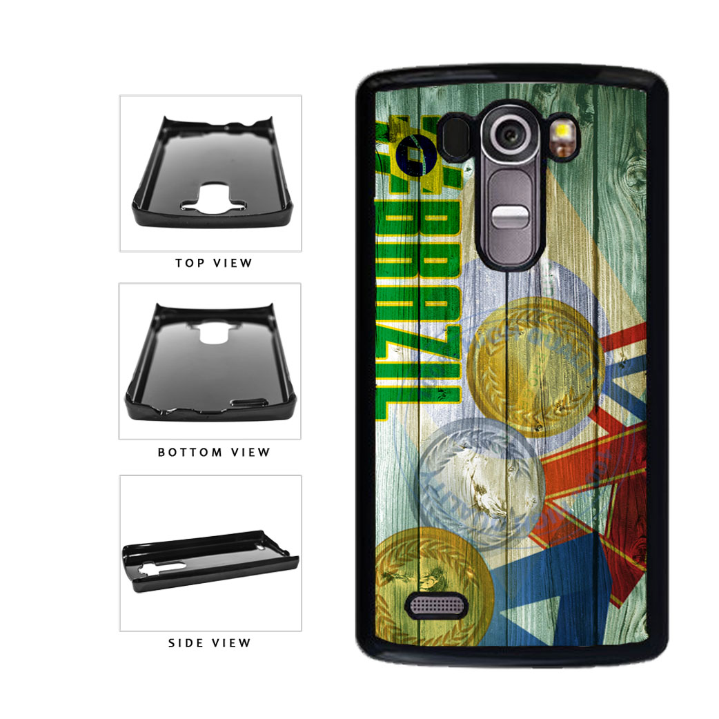 Sport Games Hashtag Team Brazil #Brazil Plastic Phone Case Back Cover For LG G4 H815 includes BleuReign(TM) Cloth and Warranty Label