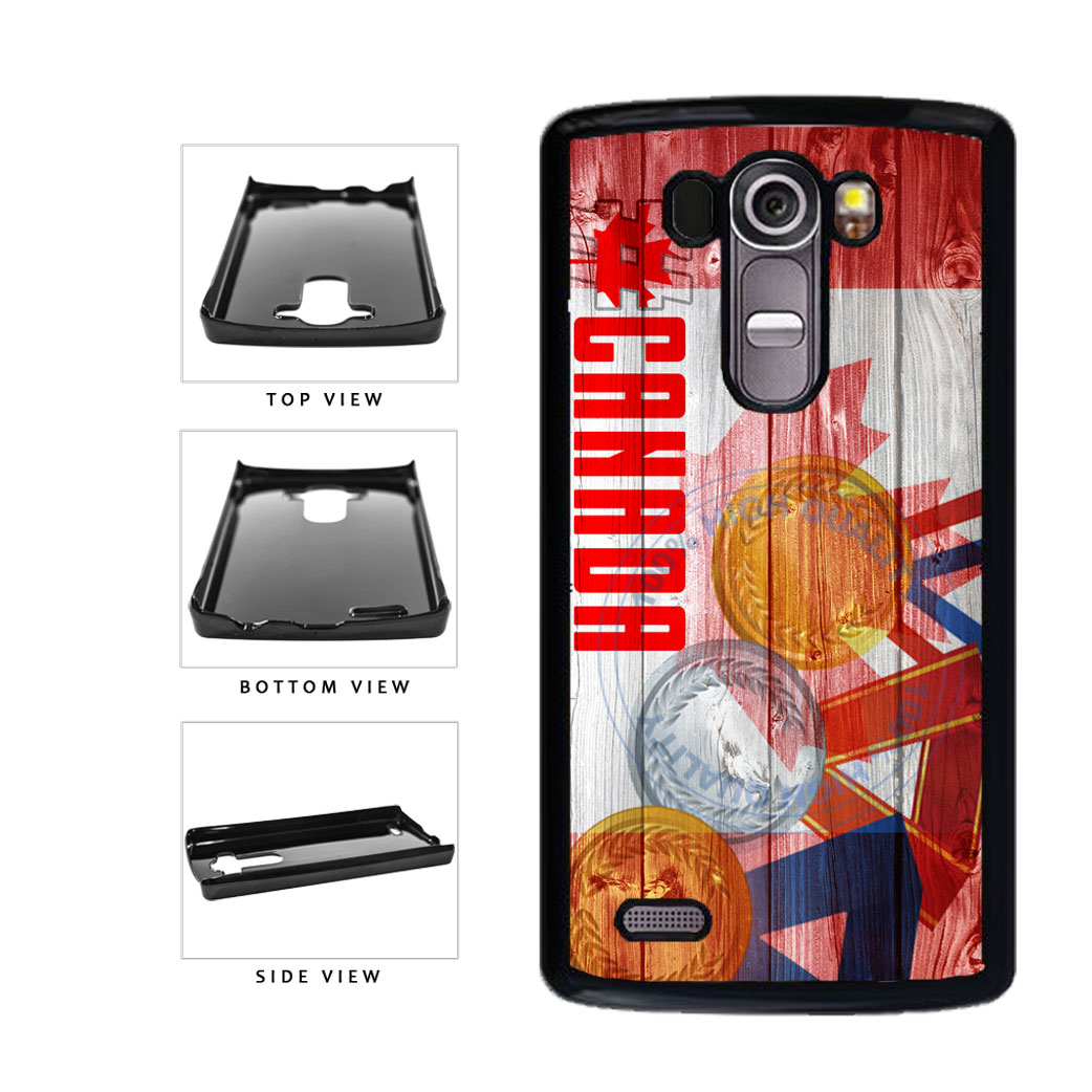 Sport Games Hashtag Team Canada #Canada Plastic Phone Case Back Cover For LG G4 H815 includes BleuReign(TM) Cloth and Warranty Label