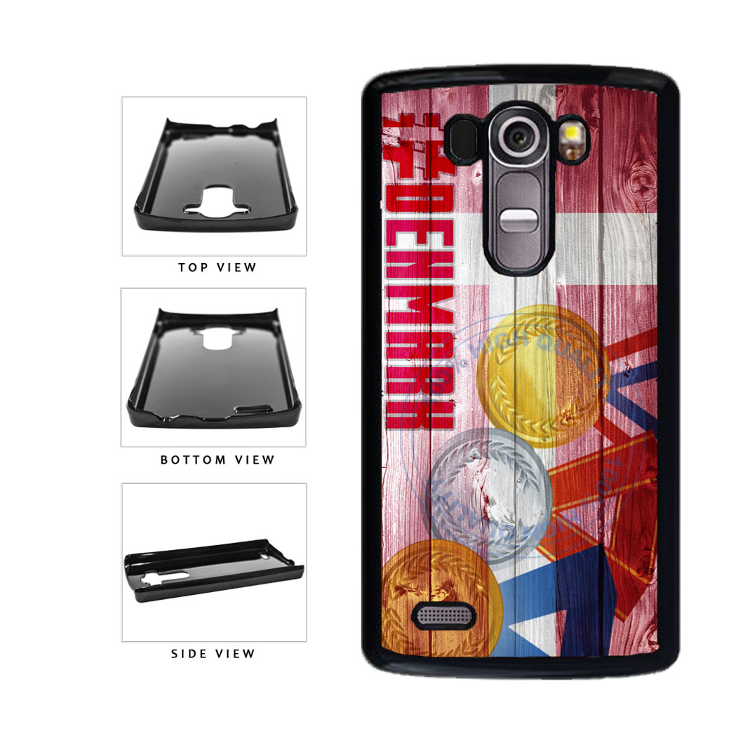 Sport Games Hashtag Team Denmark #Denmark Plastic Phone Case Back Cover For LG G4 H815 includes BleuReign(TM) Cloth and Warranty Label