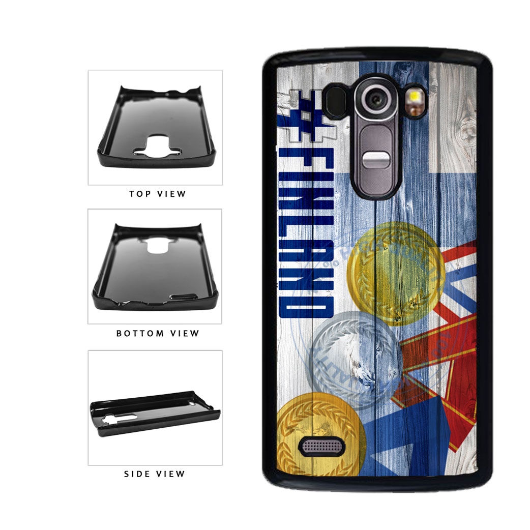 Sport Games Hashtag Team Finland #Finland Plastic Phone Case Back Cover For LG G4 H815 includes BleuReign(TM) Cloth and Warranty Label