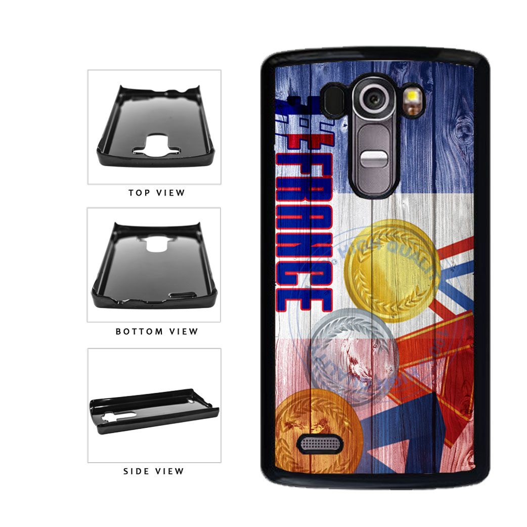 Sport Games Hashtag Team France #France Plastic Phone Case Back Cover For LG G4 H815 includes BleuReign(TM) Cloth and Warranty Label