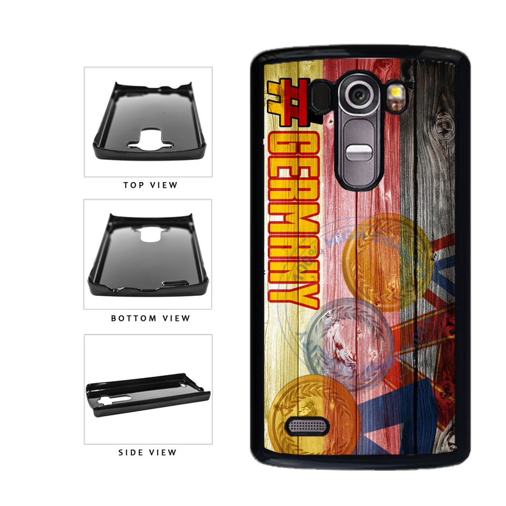 Sport Games Hashtag Team Germany #Germany Plastic Phone Case Back Cover For LG G4 H815 includes BleuReign(TM) Cloth and Warranty Label