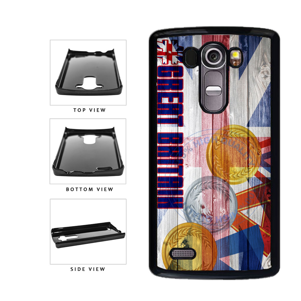 Sport Games Hashtag Team Great Britain #GreatBritain Plastic Phone Case Back Cover For LG G4 H815 includes BleuReign(TM) Cloth and Warranty Label