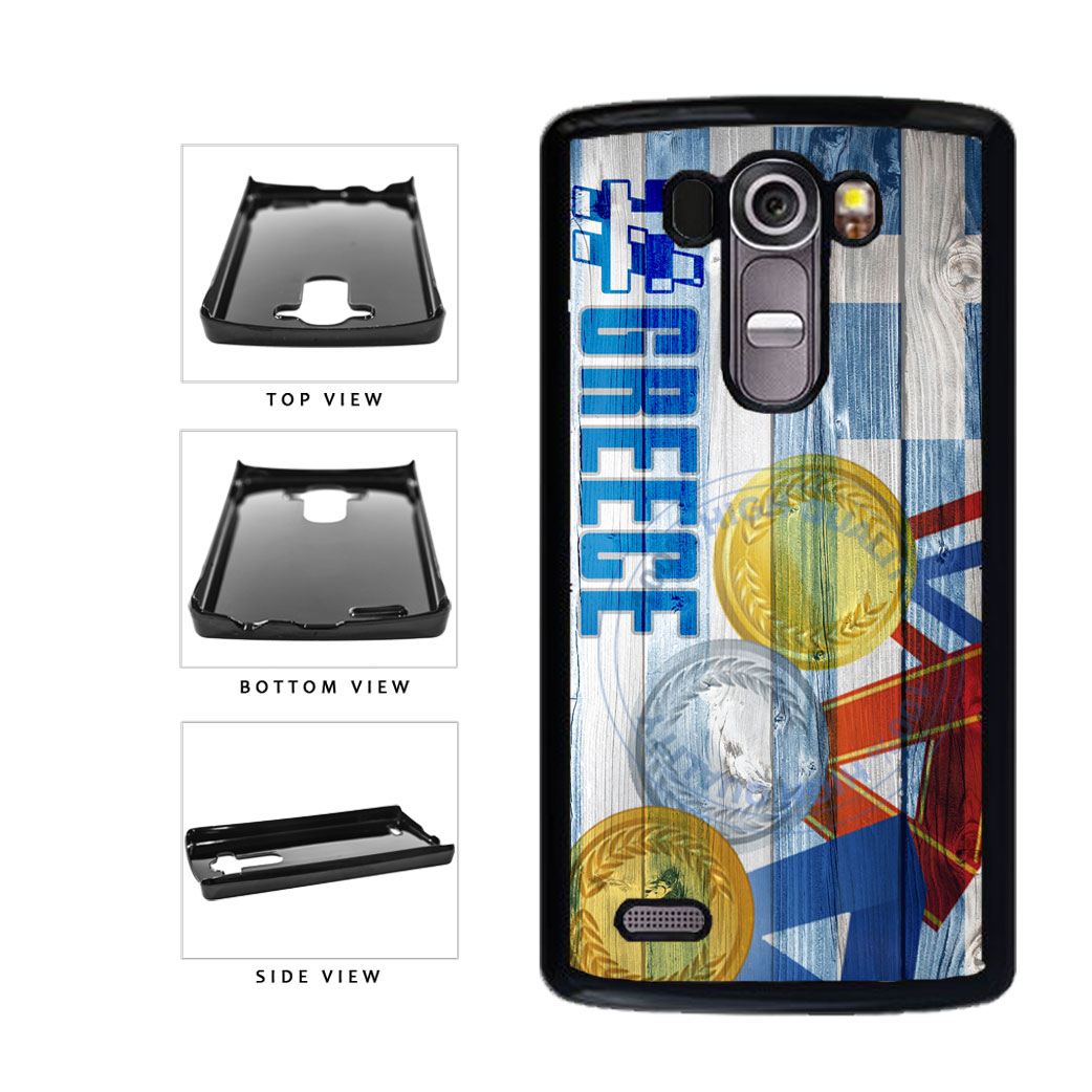 Sport Games Hashtag Team Greece #Greece Plastic Phone Case Back Cover For LG G4 H815 includes BleuReign(TM) Cloth and Warranty Label