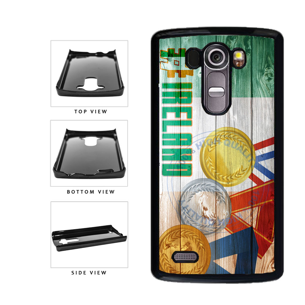 Sport Games Hashtag Team Ireland #Ireland Plastic Phone Case Back Cover For LG G4 H815 includes BleuReign(TM) Cloth and Warranty Label