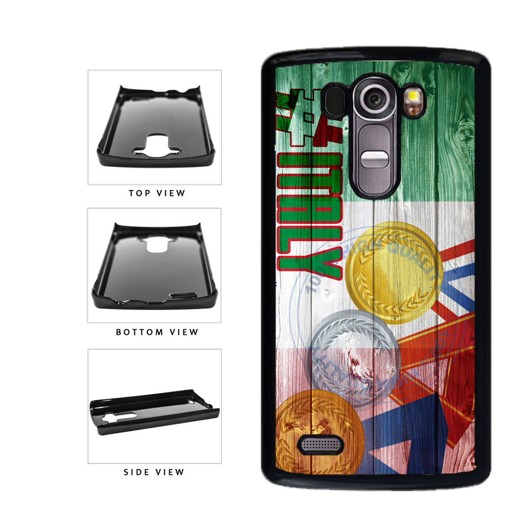 Sport Games Hashtag Team Italy #Italy Plastic Phone Case Back Cover For LG G4 H815 includes BleuReign(TM) Cloth and Warranty Label