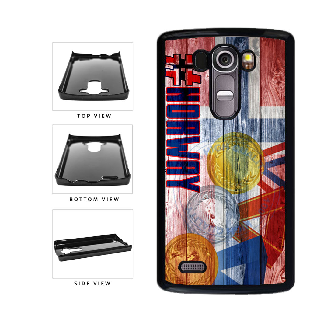Sport Games Hashtag Team Norway #Norway Plastic Phone Case Back Cover For LG G4 H815 includes BleuReign(TM) Cloth and Warranty Label
