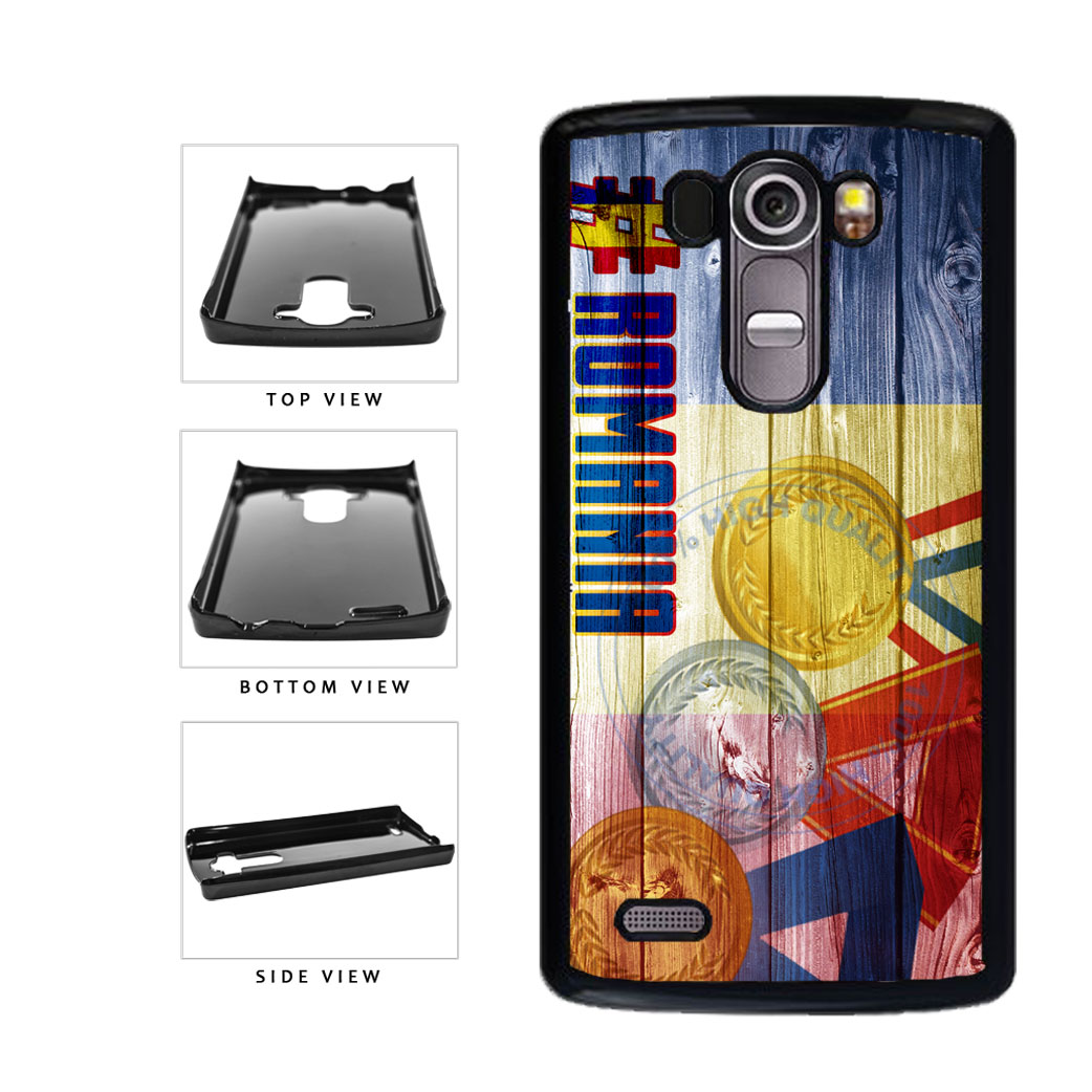Sport Games Hashtag Team Romania #Romania Plastic Phone Case Back Cover For LG G4 H815 includes BleuReign(TM) Cloth and Warranty Label