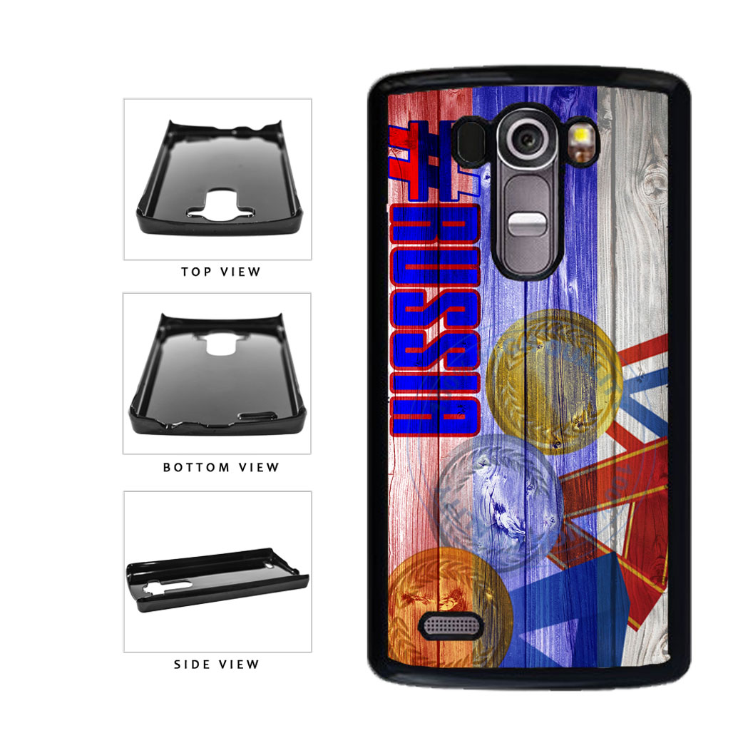 Sport Games Hashtag Team Russia #Russia Plastic Phone Case Back Cover For LG G4 H815 includes BleuReign(TM) Cloth and Warranty Label
