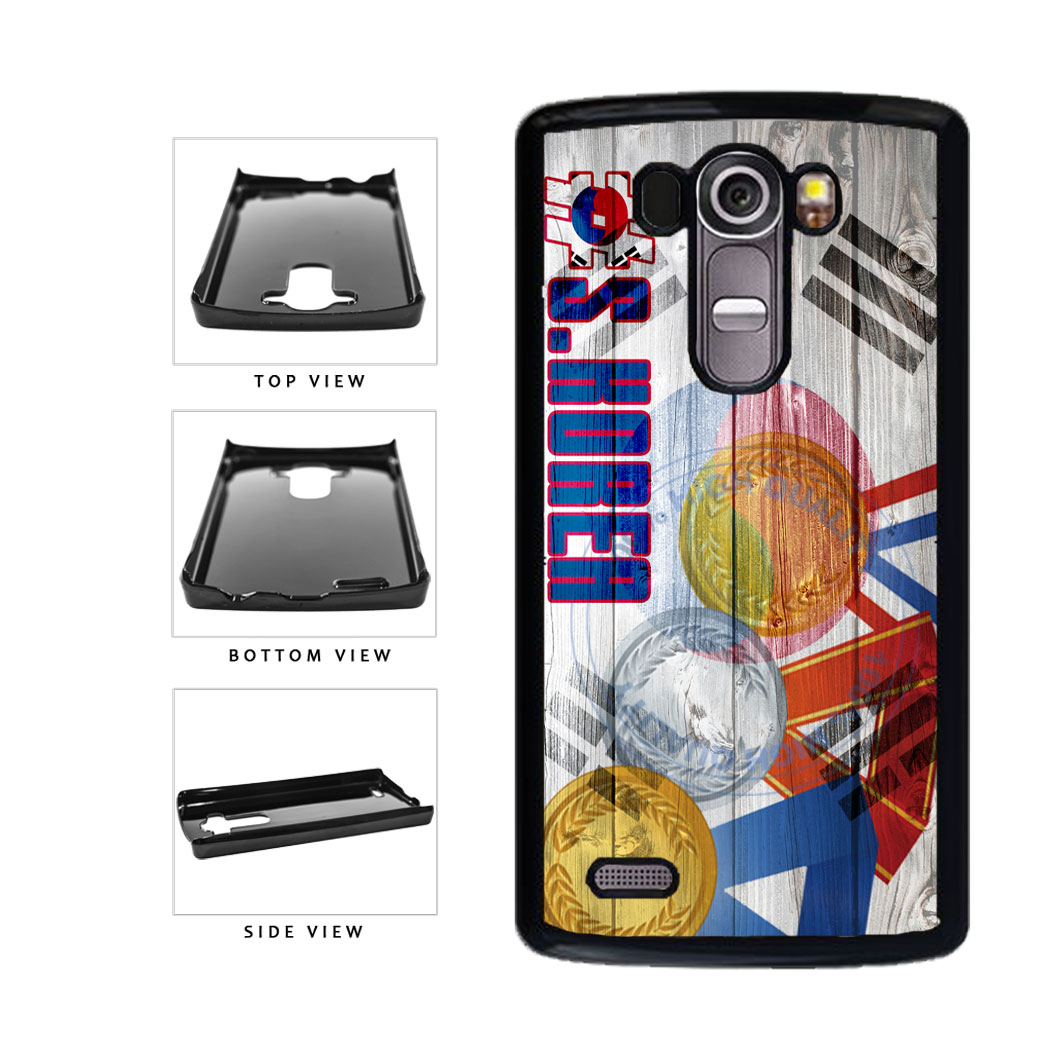 Sport Games Hashtag Team South Korea #SouthKorea Plastic Phone Case Back Cover For LG G4 H815 includes BleuReign(TM) Cloth and Warranty Label